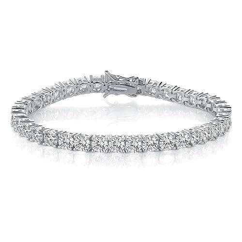 3mm CZ Gold Bracelets for Women Size 6.5-7.5 Inch PAVOI 14K Gold Plated Princes Cut Cubic Zirconia Classic Tennis Bracelet