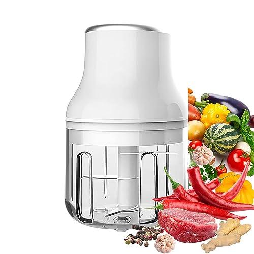 Electric Fruit Vegetable Onion Garlic Cutter Food Speedy Chopper Mini Slicer