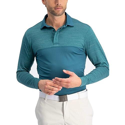 fbbf3ca3a6 tre sessantasei polo per uomo a manica lunga - polo da golf uomo manica  lunga - tessuto asciutto