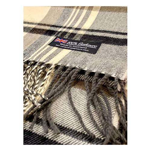 Black Red GReen ZS23 2 PLY 100/% Cashmere Scarf Elegant Collection Made in Scotland Wool Solid Plaid